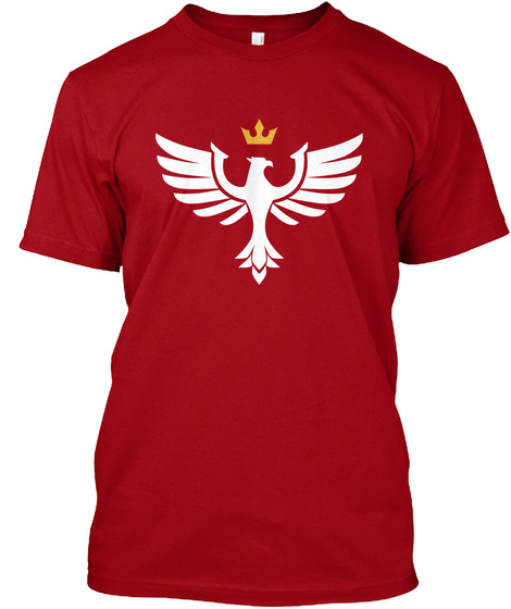Aurora Crest  Deep Red T-Shirt Front