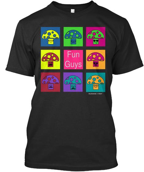 Fun Guys Alexander & Kent  Black T-Shirt Front