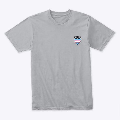 Trans Pride Heart Shirt Heather Grey T-Shirt Front