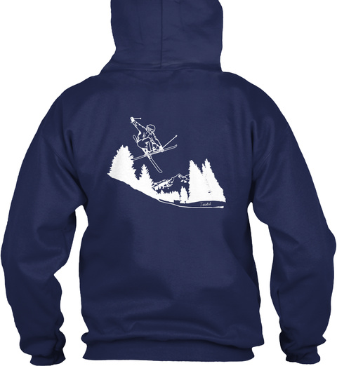 It's Ski Time Navy T-Shirt Back