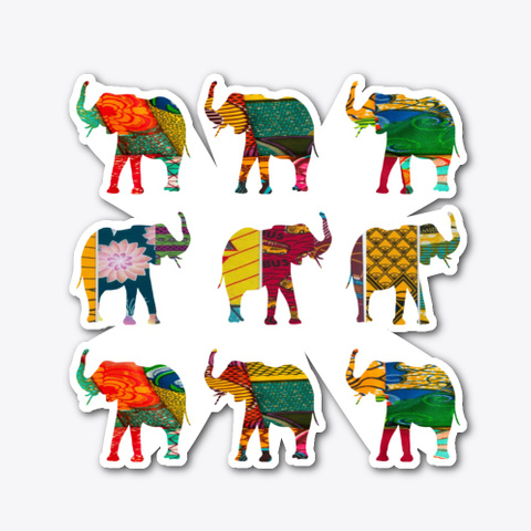 Retro Afro Elephant  Standard T-Shirt Front