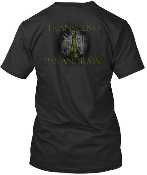 Transcend Paranormal Black T-Shirt Back