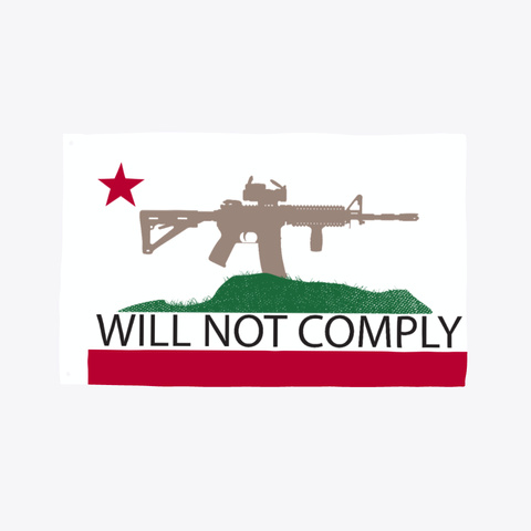 Will Not Comply Flag Standard T-Shirt Front