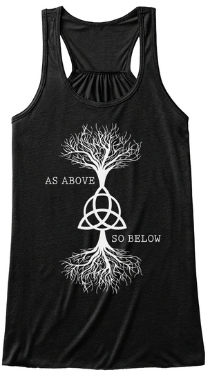As Above So Below  Black T-Shirt Front