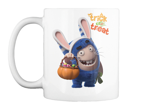 Trick Or Treat White Mug Front