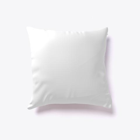 I Heart Yoga Pillow White T-Shirt Back