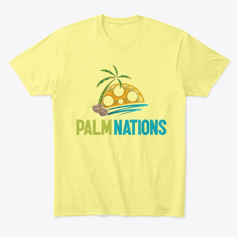 Palm Nations Tribal  Lemon Yellow  T-Shirt Front
