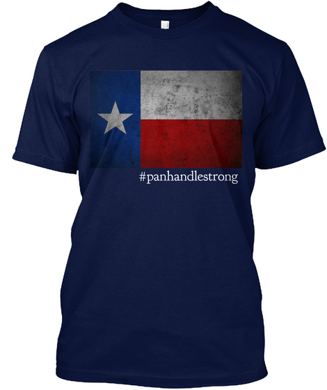 #Panhandlestrong Navy áo T-Shirt Front