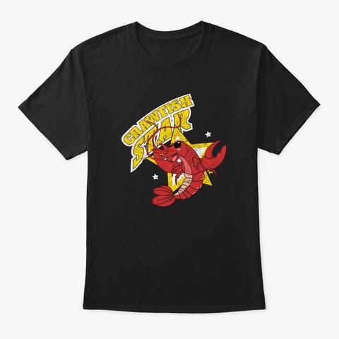 Crawfish Star Seafood Festival Retro She Black T-Shirt Front