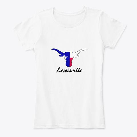 Lewisville Texas White T-Shirt Front