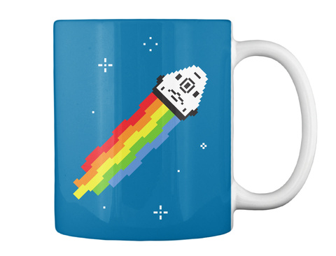 Nyan Dragon Mug [Int] #Sfsf Royal Blue Mug Back