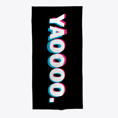 Yaoooo. Beach Towel Black Camiseta Front