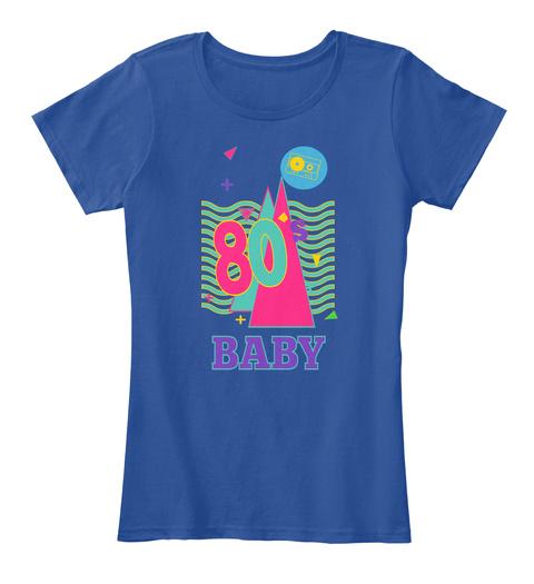 80 Baby Deep Royal  T-Shirt Front