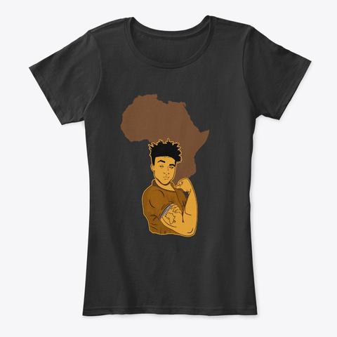 Powerful Strong Black Men Pride Apparel Black T-Shirt Front
