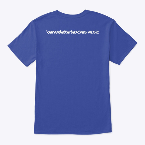 Ukulele  Deep Royal T-Shirt Back
