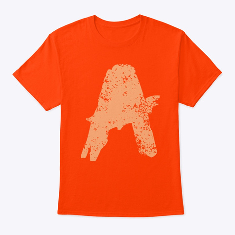 No A Holes™ Icon Distressed (Mp) Orange T-Shirt Front