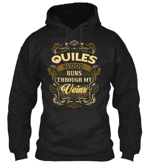Quiles Blood Thru My Veins Black T-Shirt Front