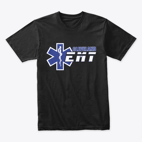 Emt Black T-Shirt Front