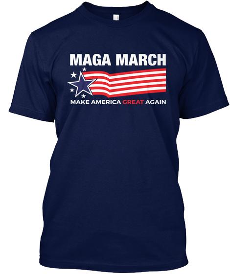 Maga March   Pray For Trump Tshirt Navy T-Shirt Front