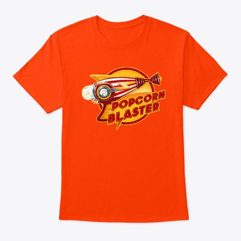 Popcorn Blaster T Shirt Orange T-Shirt Front