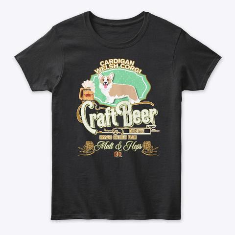 Cardigan Welsh Corgi Gifts Black T-Shirt Front