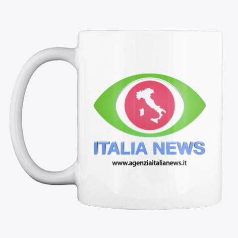 Italia News White T-Shirt Front