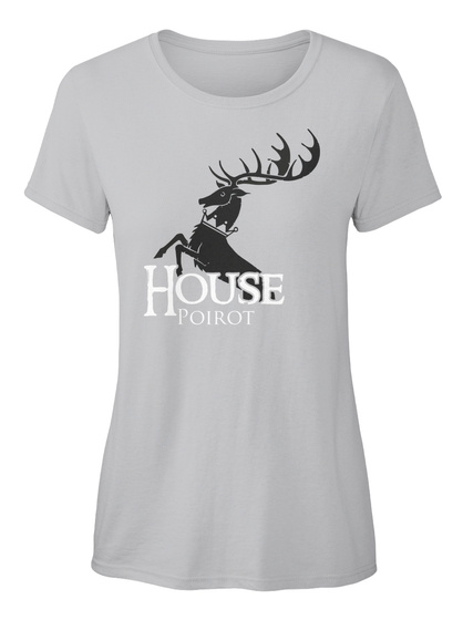 Poirot Family House   Stag Sport Grey T-Shirt Front
