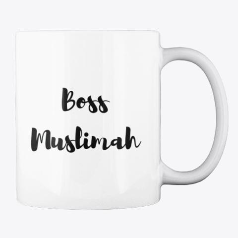 Boss Muslimahs Mug White T-Shirt Back