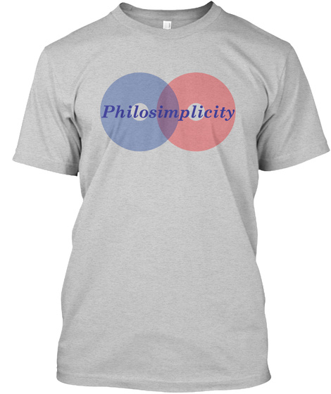 Philosimplicity Light Steel T-Shirt Front