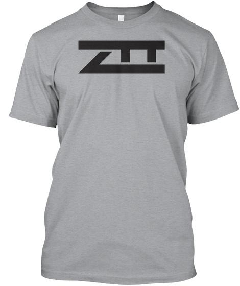 Premium Ztt Gray Heather Grey T-Shirt Front