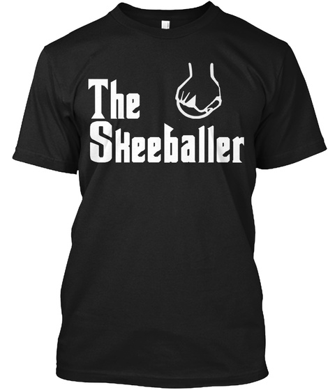 The Skeeballer Black T-Shirt Front