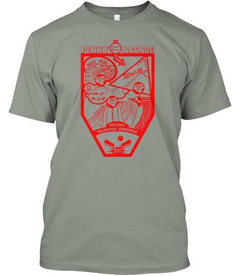 Manitou Springs T Shirt 2019 #Pinball Grey T-Shirt Front