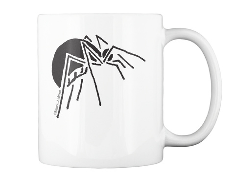 Spider Mug White T-Shirt Back