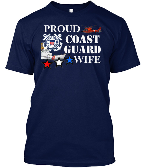 Wife T Shirt Coastie Navy T-Shirt Front