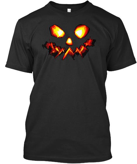 Halloween Collection : Pumpkin Man Black T-Shirt Front