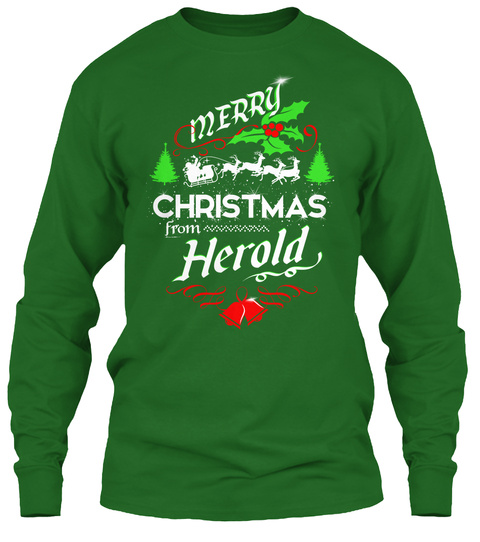 Xmas Gift From Herold  Irish Green T-Shirt Front