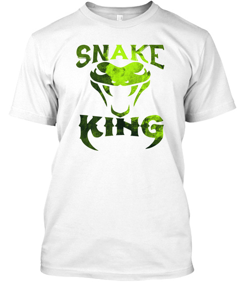 Snake King   Snake, Animal, Fangs White T-Shirt Front