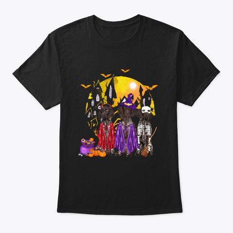 German Shorthair Pointer Halloween Black T-Shirt Front