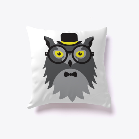 Funny Animal Pillow White T-Shirt Front