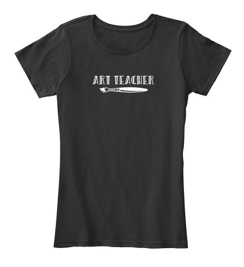 Art Teacher For Kindergarten High Black T-Shirt Front