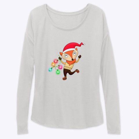 Merry Fox Humor Collection Athletic Heather Long Sleeve T-Shirt Front