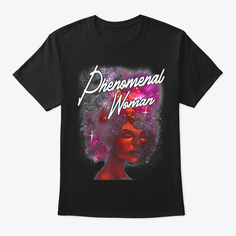 Phenomenal Woman Black Queen African Black T-Shirt Front