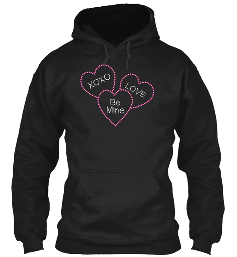 Xoxo Love Be Mine Black T-Shirt Front
