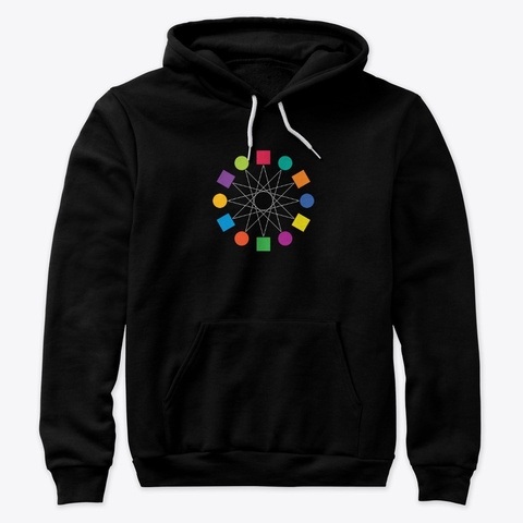Unisex Hoodie Black T-Shirt Front