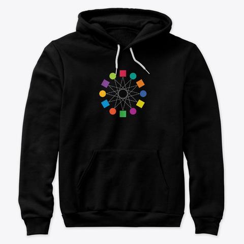 Unisex Hoodie Black T-Shirt Front