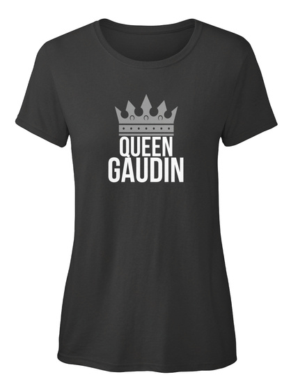 Gaudin   Simply Queen Gaudin Black T-Shirt Front