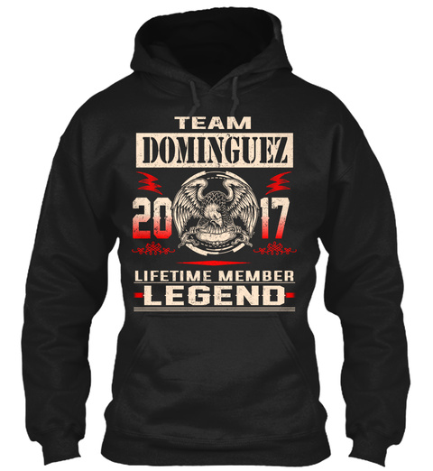 Team Dominguez 2017 Black T-Shirt Front
