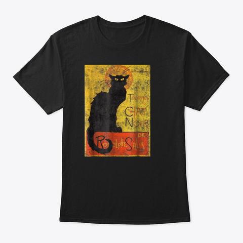 Vintage Tournee Du Chat Noir Black Cat H Black T-Shirt Front