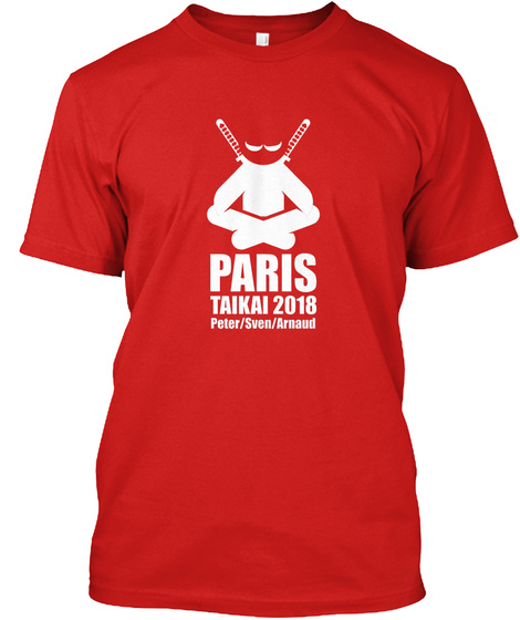 Paris Taikai 2018 Red T-Shirt Front