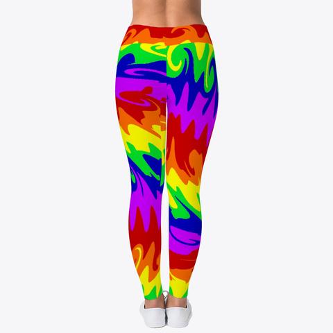 Rainbow Waves Leggings Standard T-Shirt Back